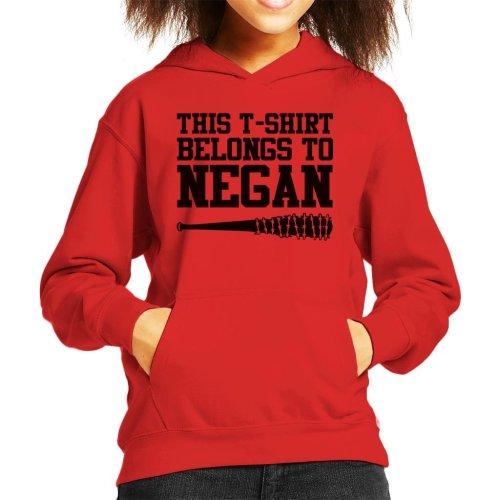 This T Shirt Belongs To Negan Walking Dead Kid's Hooded Sweatshirt