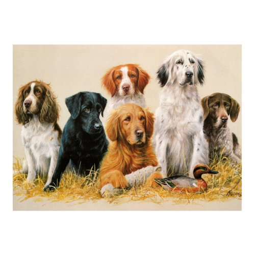 Tuftop Medium Textured Worktop Saver, Class Reunion Dogs 40 x 30cm