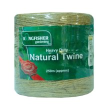 250m Heavy Duty Natural Jute -  natural heavy duty twine kingfisher hdnt250 garden 250m green meter