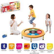 Kids Dancing Trampoline Mat Game with Sounds Music Bluetooth iPhone Android Wifi[Multi Colour]