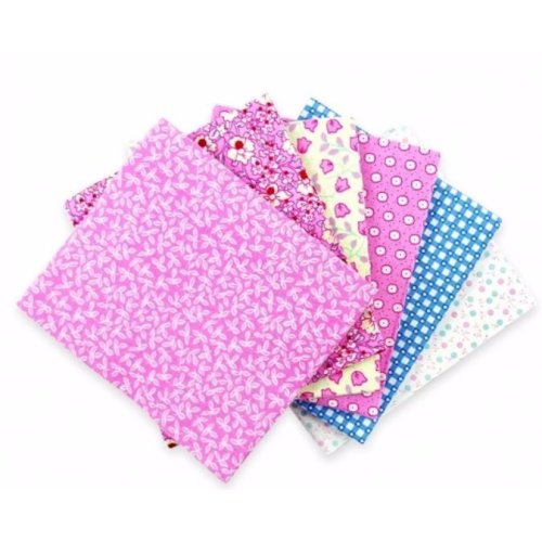 Fat Quarter Bundle - 100% Cotton - Pink Patchwork - Pack of 6
