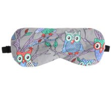 Steam Shade Sleep Mask Owl Sleep Mask Adjustable Eye Cover Soft Sleep Mask, Lavender & Cassia