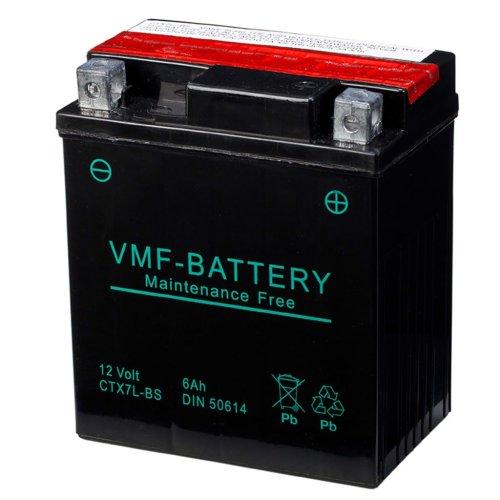 VMF Powersport Liquifix Battery 12V 6Ah MF YTX7L-BS Anti-leak 112x70x130mm