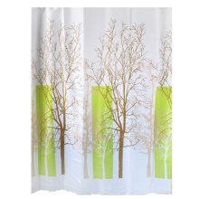 Shower Curtain Water-Repellent With Natural Tree Scenery  (180*180cm)