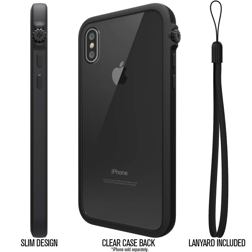 promo code 2e8db af938 Catalyst iPhone 8 Case + Lanyard - Rugged Heavy-Duty Impact protection  cover for Apple phone [iPhone 7 great fit, Military Shockproof, Clear  back,...