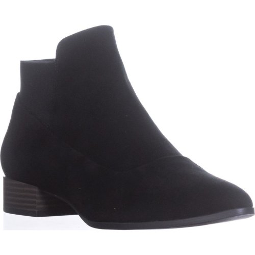 DKNY Trent Pointed-Toe Pull-On Boots, Black, 6 UK