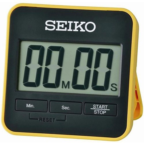 Seiko Digital Countdown Timer and Stopwatch - Yellow (QHY001Y)