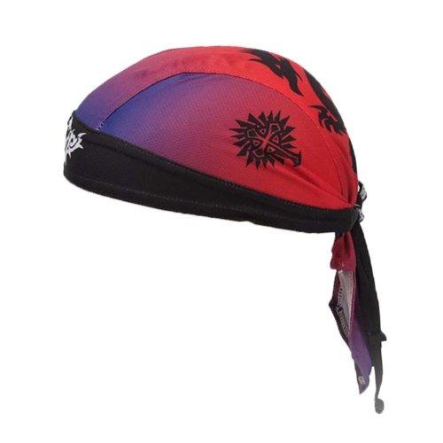 d89854ee36b2 Sports Cycling Cap Pirate Headband Bandana Hat Quick Dry Sweatband  Headscarf