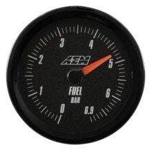 AEM 30-5133M Analog Oil/ Fuel Pressure Gauge, 0 - 6.9 Bar, Black