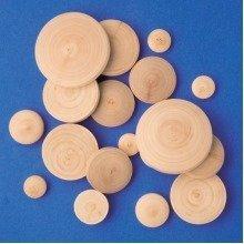 Pbx2470117 - Playbox - Wooden Buttons - Ï 40 Mm - 100 Pcs