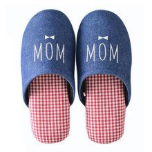 Family Winter Warm & Cozy  Indoor Shoes Couples Cartoon House Slipper, E