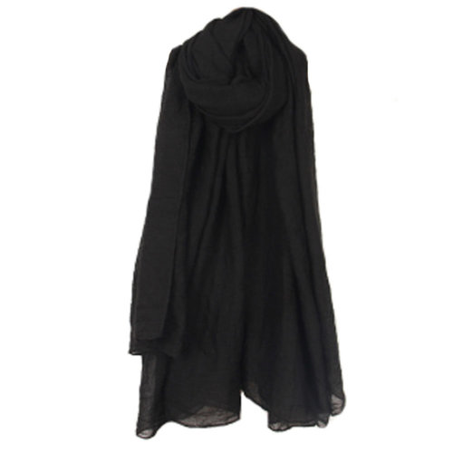 Womens Fashion Solid Scarves Comfortable Scarf Shawl Wrap, Black