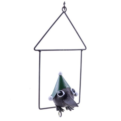 Hanging Metal Green Christmas Fat Ball Holder Bird Feeder