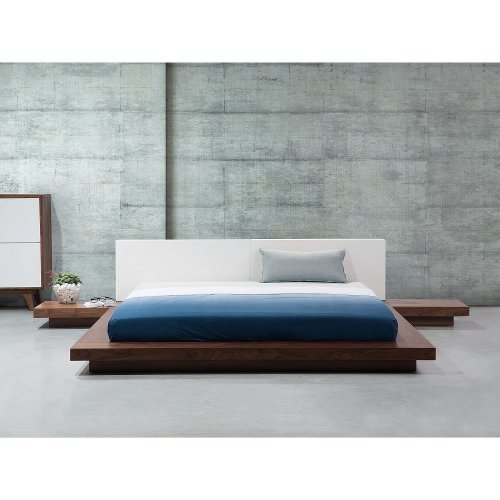 Wooden Bed Japan Style - 180x200 cm - Super King Size - with Side Tables -  ZEN
