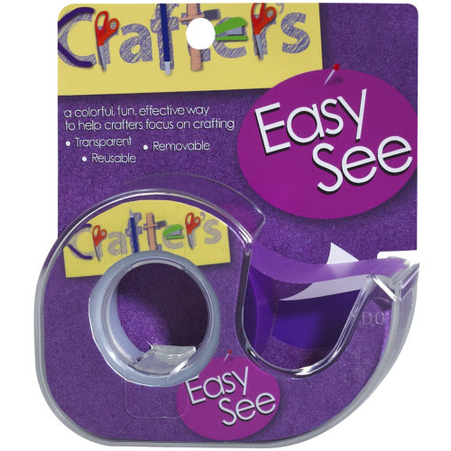 """Lee Products Crafter's Easy See Removable Tape .5""""X720""""-Purple"""