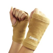 Pair of Elastic Cotton Palm Support Wrist Gloves Brace Hand Protector Sports