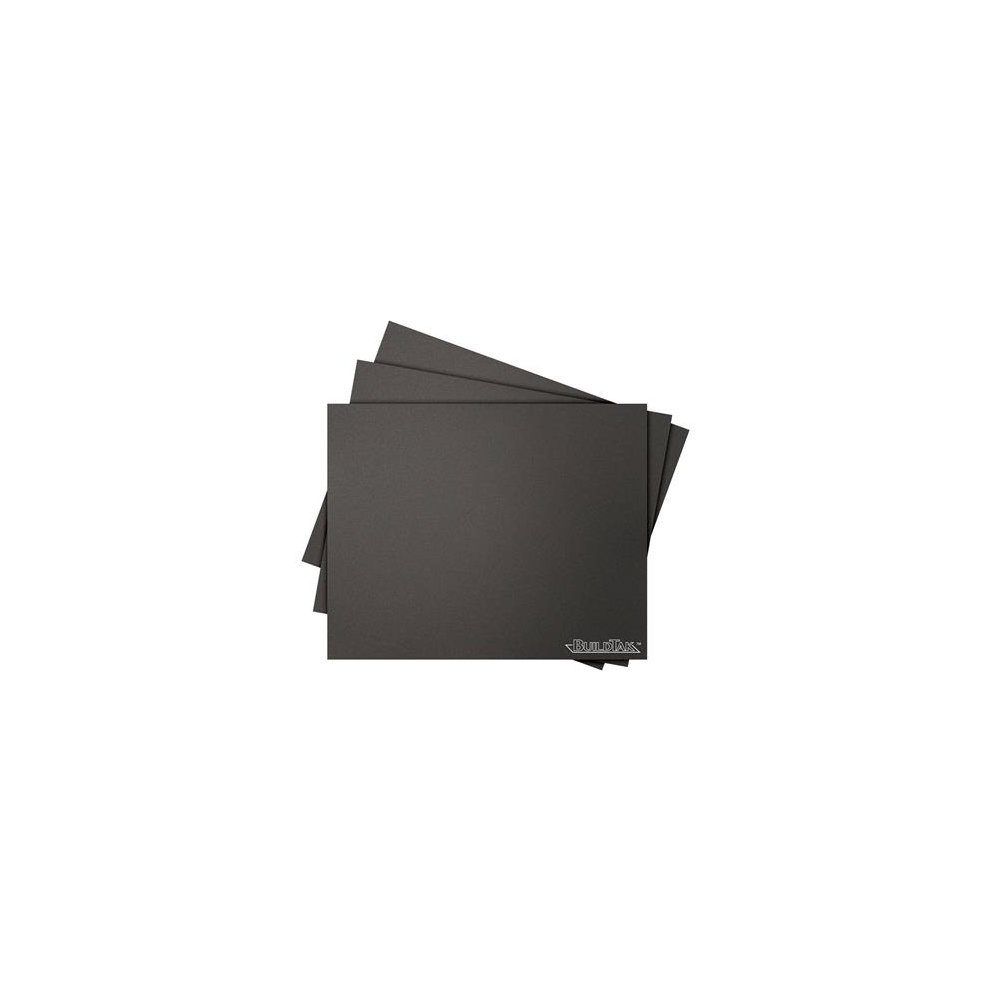 "BuildTak BT08x08-3PK 3D Printing Build Surface Square 203 mm x 203 mm 8 x 8/"" Black Pack of 3"