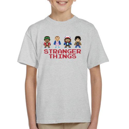 Simplified Stranger Things Pixellated Kids Kid's T-Shirt