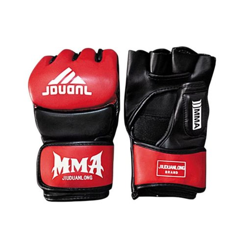 Adult Fighting Half-finger Gloves -UFC Boxing Gloves - Gloves MMA 2 --Black Red