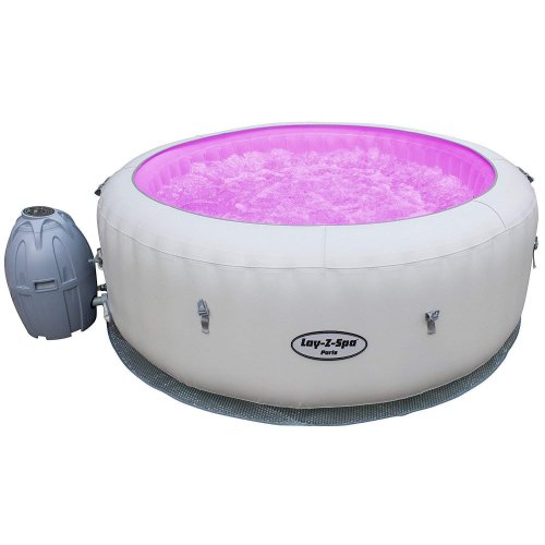 Bestway Lay-Z-Spa Paris AirJet Inflatable Hot Tub With LED Lights