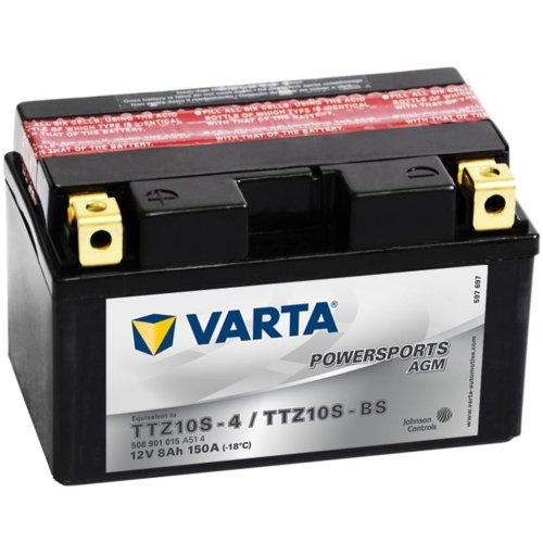 Varta Motorcycle Battery Powersports AGM TTZ10S-4/TTZ10S-BS