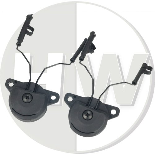 Airsoft Fma Ussf Bump Helmet Rail Adapters Set Black For Peltor Headset