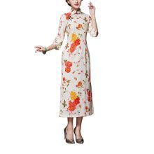 Vintage Elegant Dress Cheongsam Long Qipao Party Dresses for Women, #02