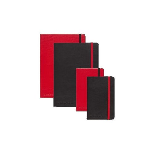 Mead Products Jdk400065000 Black & Red Ruled Notebook