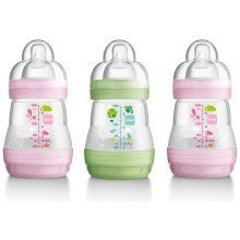 Mam Anti-colic 160ml Bottle - 3pk Girl
