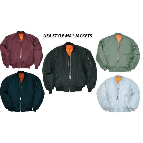 MA1 Flight Bomber Army Us Pilot Airforce Jacket