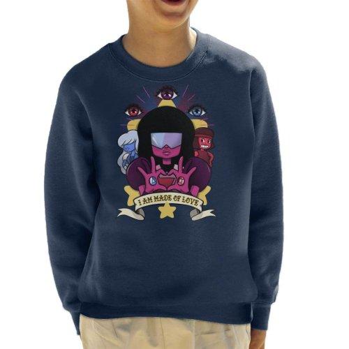 Steven Universe Made Of Love Kid's Sweatshirt