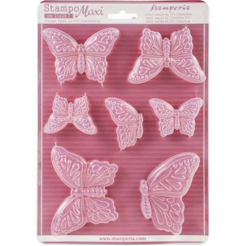 """Stamperia Soft Maxi Mould 8.5""""X11.5""""-Butterflies"""