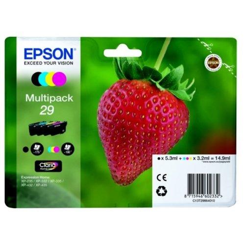 Epson C13T29864022 (29) Ink cartridge multi pack, 5,3ml + 3x3,2ml, Pack qty 4
