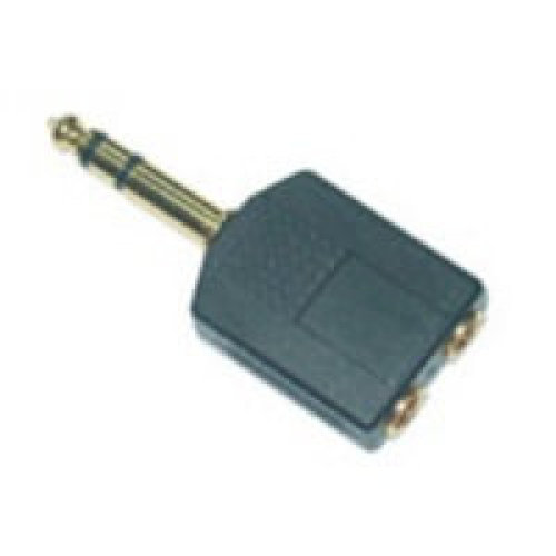 Microconnect 6.3mm/2x3.5mm M/F 6.35mm 2 x 3.5mm Black cable interface/gender adapter