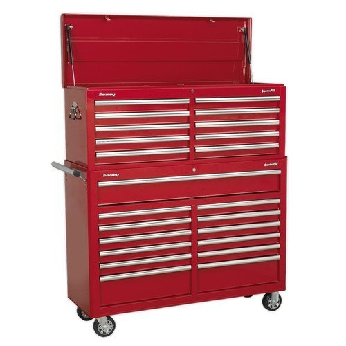 Sealey AP52COMBO1 Tool Chest Combination 23 Drawer with Ball Bearing Slides - Red