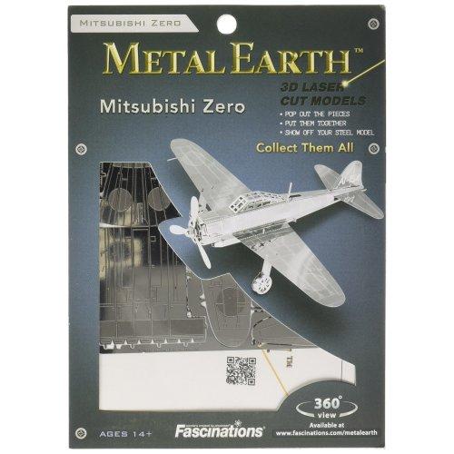 Fascinations MMS028–Metal Construction Toy–Earth Mitsubishi Zero