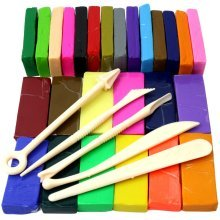 H&S 650g 26 Colours Oven Bake Polymer Clay Block Modelling Sculpey Tool set