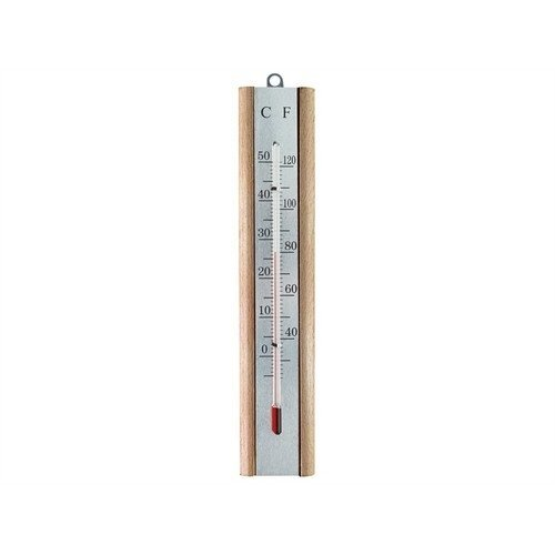 Faithfull FAITHBEECH Thermometer Wall Beech Silver 200mm