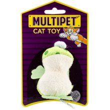 """Multipet Look Who's Talking Plush Toy 1.25""""-Frog"""