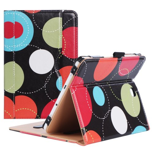 finest selection 32f07 25e6b ProCase Samsung Galaxy Tab S2 8.0 Case, Stand Folio Cover Case for Galaxy  Tab S2 Tablet (8.0 Inch, SM-T710 T715 T713) - Circles