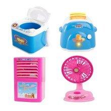 Set Of 4 Lovely Electronic Toys Home Appliances Model Toys For Kids Children