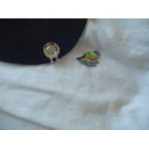 """Magnetic Golf Ball Marker""""Birdie""""on Hat Clip"""