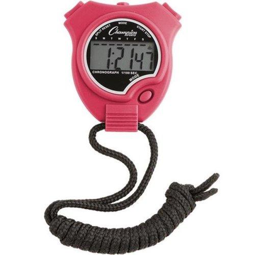 Champion Sports 910NPK Stop Watch, Neon Pink