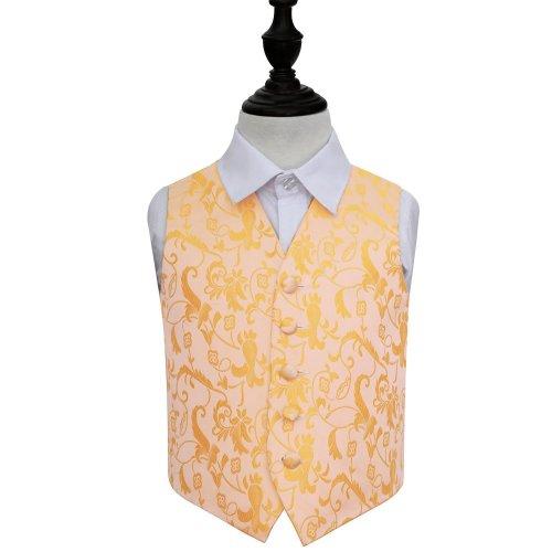 Gold Floral Wedding Waistcoat for Boys 30'