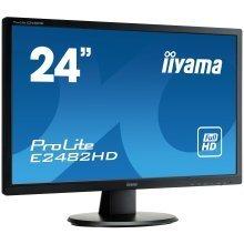 Iiyama Prolite E2482HD 24In Widescreen LED Monitor D-Sub DVI