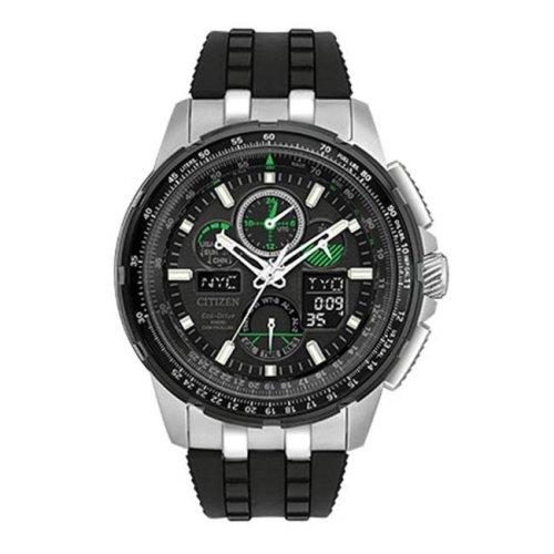 Citizen Eco-Drive Skyhawk A-T Chronograph Perpetual Rubber Mens Watch JY8051-08E