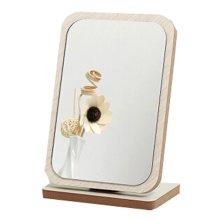 Home Decor Wooden Mirror Single-sided Vanity Mirror Tabletop Makeup Mirror 16.1x10x24.3CM