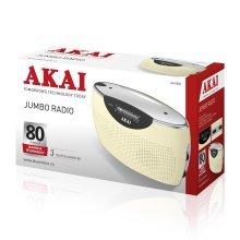Akai A61005C Cream Jumbo Portable Radio