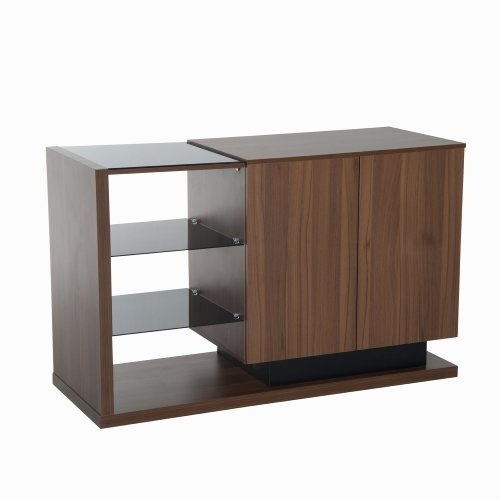 Homcom Wooden Side Cabinet | Open Shelf Cabinet