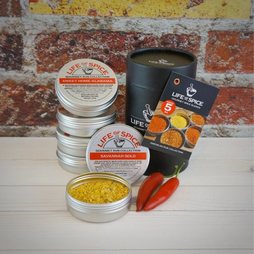 Life of Spice American Rub Collection - Memphis Belle, Savannah Gold, Kansas City Rib Rub Much Adobo About Nothing and Sweet Home Alabama